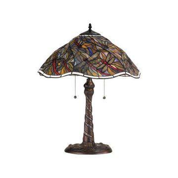 Meyda Tiffany 82310 Spiral Dragonfly Table Lamp