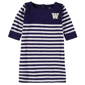 Washington Huskies Girls Youth Kristen Striped Dress - Purple