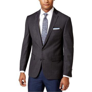Ryan Seacrest Distinction Mens Windowpane Two Button Blazer Jacket