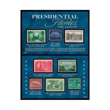American Coin Treasures Presidential Homes Stamp Collection