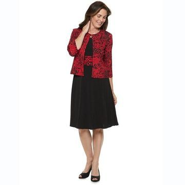 Petite Jessica Howard Ruched Waist Jacket Dress