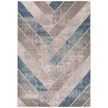 Winston Herringbone 5820 Tan/Teal 3'3