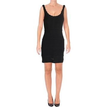 Ella Moss Womens Tiered Sleeveless Casual Dress