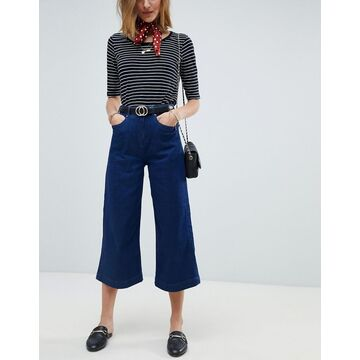 Maison Scotch Designers Favorite Wide Leg Jeans-Navy