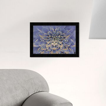 Oliver Gal 'Floralia Lilac' Floral and Botanical Wall Art Framed Print Florals - Purple, Gold