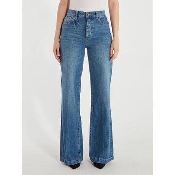 DL1961 Hepburn High Rise Wide Leg Jeans - Strauss (Blue)