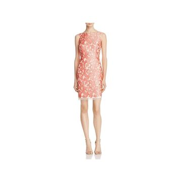 Aidan Mattox Womens Cocktail Dress Lace Sleeveless