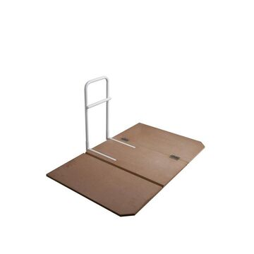 Drive Medical Home Bed Assist Grab Rail with Bed Board in White