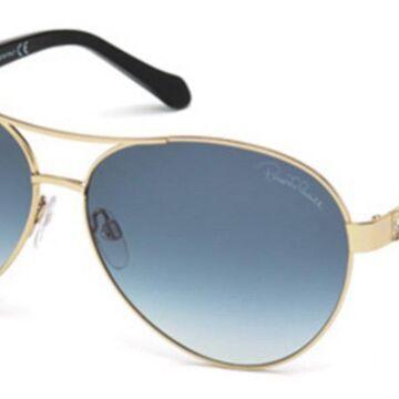 Roberto Cavalli RC 905S MERGA 28W Womenas Sunglasses Gold Size 63