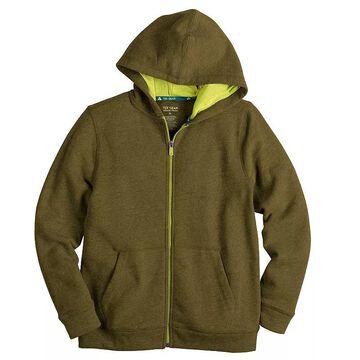 Boys 8-20 Tek Gear Ultra Soft Full-Zip Hoodie, Boy's, Size: Large HUSKY, Dark Green