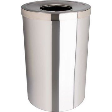 Genuine Joe, GJO58895, 30 Gal Stainless Steel Trash Receptacle, 1, Silver