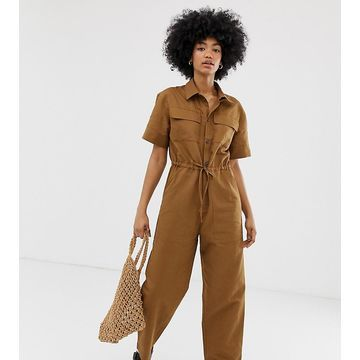 Weekday boilersuit with side pockets in brown