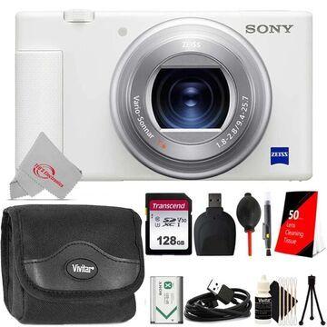 Sony ZV-1 Digital Camera (White) + Essential Kit (White)