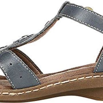 Natural Soul Womens Bev Leather Open Toe Casual Slingback