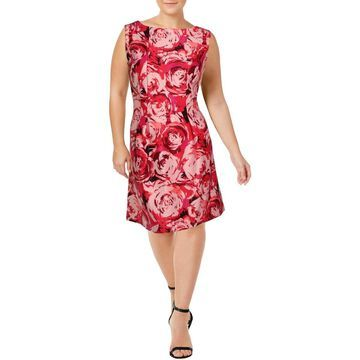 Taylor Womens Plus Party Dress Floral Sleeveless