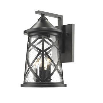 Millennium Lighting 16.25-in H Powder Coat Black Medium Base (E-26) Outdoor Wall Light   2503-PBK