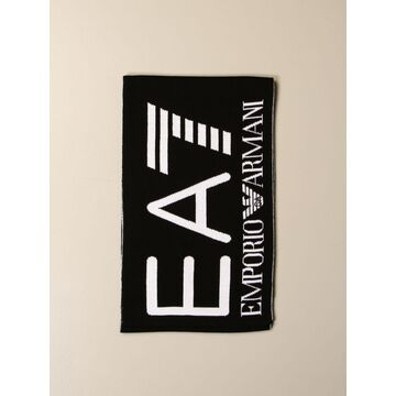 Ea7 Double Scarf With Logo