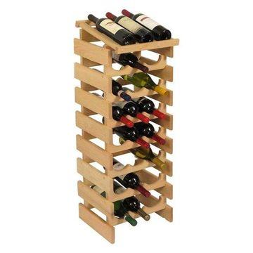 Wooden Mallet Dakota 8 Tier 24 Bottle Display Top Wine Rack in Natural
