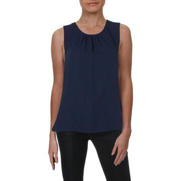 Anne Klein Womens Sleeveless Shirred Tank Top