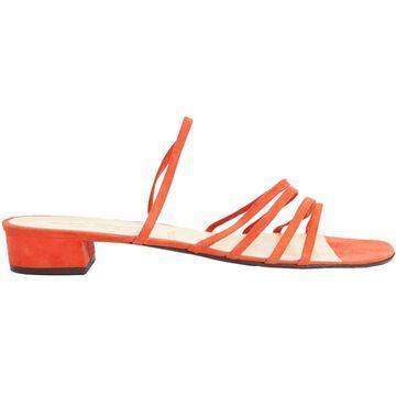 Robert Clergerie Orange Suede Sandals