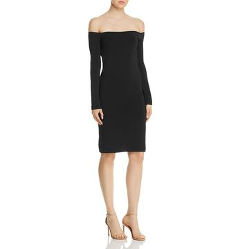 Elizabeth and James Womens Omorose Off-the-Shoulder Bodycon Cocktail Dress