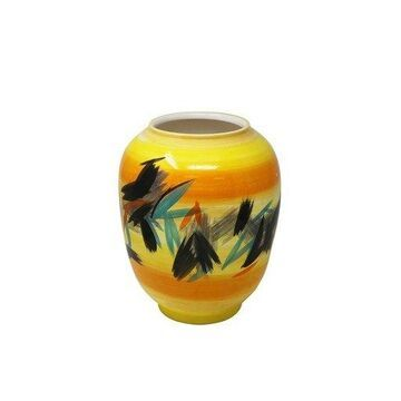 Benzara BM164058 Decorative Ceramic Vase - Yellow