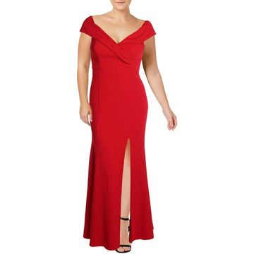 Xscape Womens Formal Dress Off-The-Shoulder Special Occasion