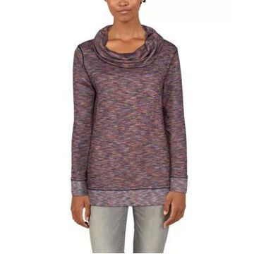 Natural Reflections Multicolor Cowl Neck Long-Sleeve Shirt for Ladies