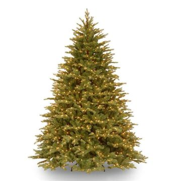 National Tree Company 7.5-ft Norway Spruce Pre-Lit Traditional Artificial Christmas Tree with 1000 Constant White Clear Incandescent Lights
