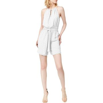 Bar III Womens Halter Sleeveless Romper