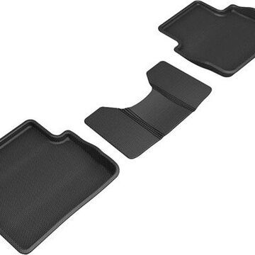 2021 Mazda 3 3D Maxpider Kagu Floor Mats, 2nd Row Floor Mat in Black