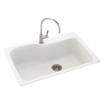 Swanstone Kssb-3322-010 White Drop, Kitchen Sink