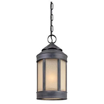 Troy Andersons Forge 1-LT Large Hanging Lantern F1468AI - Antique Iron