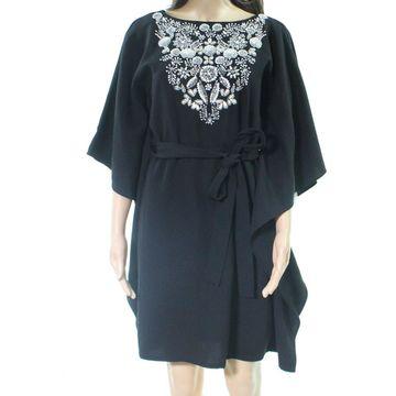 Aidan Mattox Womens Embellished Belted Shift Dress