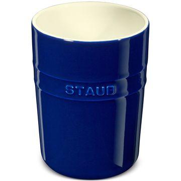 Dark Blue Ceramic Utensil Holder