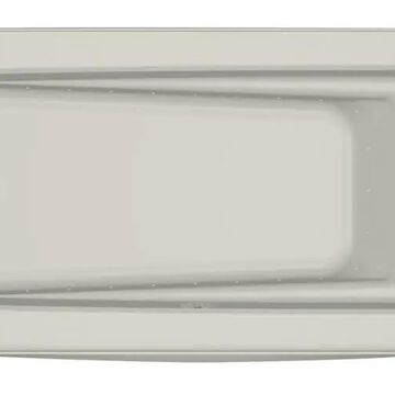 Jacuzzi Primo 32-in W x 60-in L Oyster Acrylic Rectangular Left Drain Alcove Air Bath in Off-White   P1S6032ALR2XXY