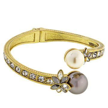 Heidi Daus Delicate Drama Hinged Crystal Cuffed Bracelet