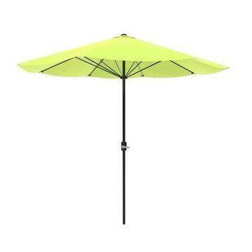 Patio Umbrella, Outdoor Shade with Easy Crank- Table Umbrella for Deck, Balcony, Porch, Backyard, Poolside, 9 Foot by Pure Garden (Green)