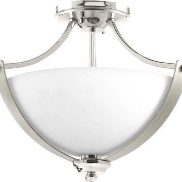 Progress Lighting Noma 15.63-in Polished Nickel Incandescent Flush Mount Light   P350034-104
