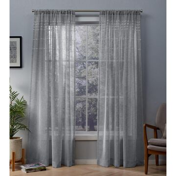 Davos Sheer Window Curtain Panel - Exclusive Home