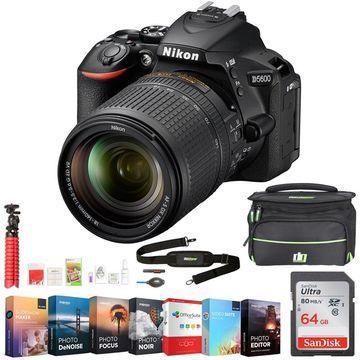 Nikon D5600 24.2MP DX-Format DSLR Camera w/AF-S 18-140mm ED VR Lens +64GB Bundle