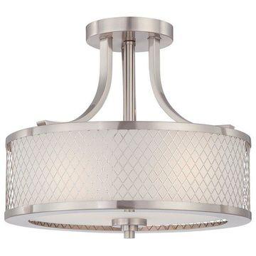 Nuvo Lighting 60/4692 Brushed Nickel Fusion 3-Light Semi-Flush Indoor Ceiling