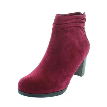 Bella Vita Womens Landon Booties Suede Gathered