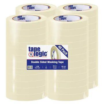 Tape Logic Double Sided Masking Tape, 7 Mil, 3/4 x 36 yds, Tan, 48/Case (T954100) | Quill