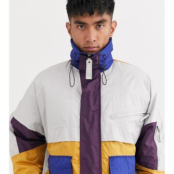 Noak wadded multi pocket jacket-Purple