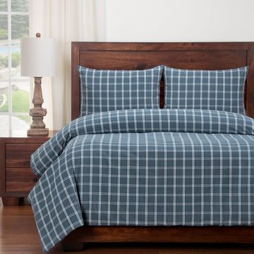 Siscovers Tartan Checked Duvet and Shams Set