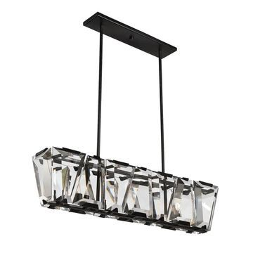 Sardis 7 Light Linear Chandelier Oiled Bronze