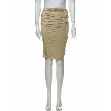 Knee-Length Skirt Gold
