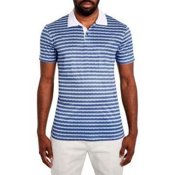 Tallia Men's Texture Stripe Polo