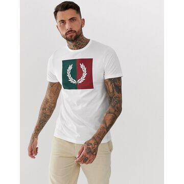 Fred Perry color block wreath t-shirt in white
